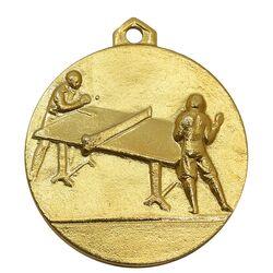 مدال آویز ورزشی طلا پینگ پنگ - UNC - محمد رضا شاه