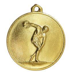 مدال آویز ورزشی طلا پرتاب دیسک - UNC - محمد رضا شاه