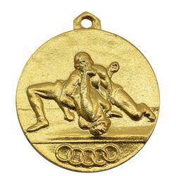 مدال آویز ورزشی طلا کشتی - AU - محمد رضا شاه
