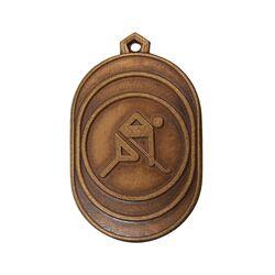 مدال آویز ورزشی برنز هاکی - AU - محمد رضا شاه