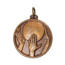 مدال آویز ورزشی برنز بسکتبال - UNC - محمد رضا شاه