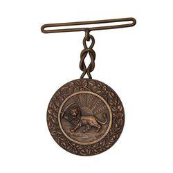 مدال برنز بپاداش خدمت - UNC - رضا شاه