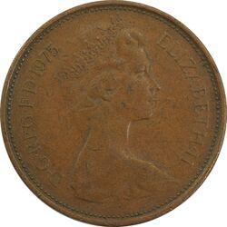 سکه 2 پنس 1975 الیزابت دوم - EF45 - انگلستان