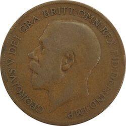 سکه 1 پنی 1921 جرج پنجم - VF25 - انگلستان