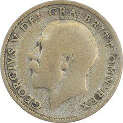 سکه 6 پنس 1924 جرج پنجم - F - انگلستان
