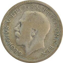 سکه 6 پنس 1925 جرج پنجم - VF30 - انگلستان