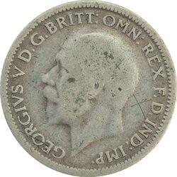 سکه 6 پنس 1929 جرج پنجم - VF35 - انگلستان