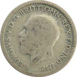 سکه 6 پنس 1929 جرج پنجم - VF25 - انگلستان