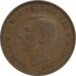 سکه 1 فارتینگ 1939 جرج ششم - EF40 - انگلستان