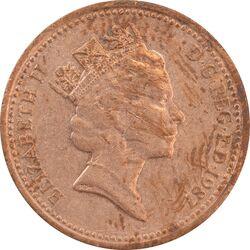 سکه 1 پنی 1987 الیزابت دوم - AU53 - انگلستان