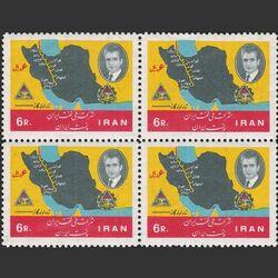 تمبر سالگرد ملی شدن نفت (2) 1345 - محمدرضا شاه