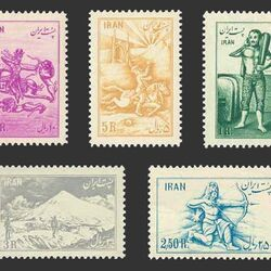 تمبر ورزشهای باستانی 1332 - محمدرضا شاه
