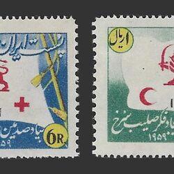 تمبر صدمین سال صلیب سرخ - محمدرضا شاه