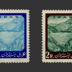 تمبر سد امیرکبیر (کرج) 1341 - محمدرضا شاه