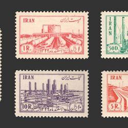 تمبر ملی شدن صنعت نفت در ایران 1331 - محمدرضا شاه