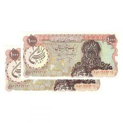 اسکناس 1000 ریال سورشارژی (انصاری - مهران) مهر جمهوری - جمهوری اسلامی