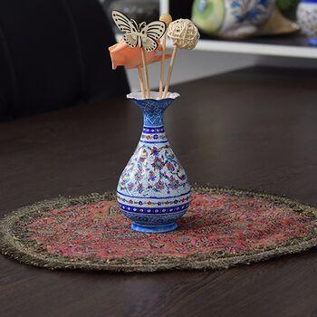 گلدان میناکاری طرح گل و مرغ - 13 سانتی در چیدمان