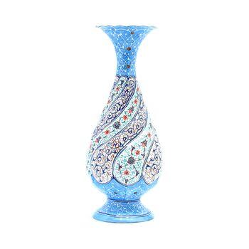 گلدان میناکاری طرح اسلیمی و ختایی - 20 سانتی