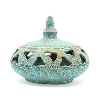 جا شکلاتی سفالی پتینه مشبک Patina Pottery candy bowl