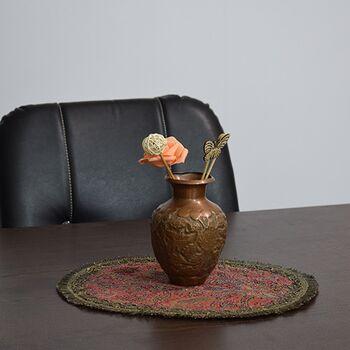 گلدان قلمزنی طرح گل و مرغ - 15سانتی در چیدمان
