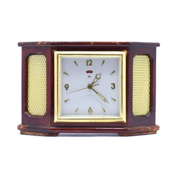 ساعت رومیزی قدیمی کوکی زنگدار مارک الماس شانگهای