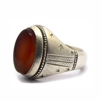 انگشتر نقره مردانه عقیق - سایز 9/5