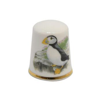انگشتانه چینی قدیمی طرح پرنده - کد006551
