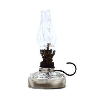 چراغ نفتی شیشه ای آنتیک 15 سانتی