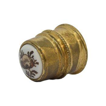 انگشتانه آهن قدیمی با طرح گل - کد 007092