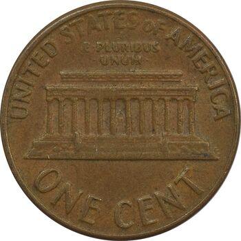 سکه 1 سنت 1969D لینکلن - EF - آمریکا