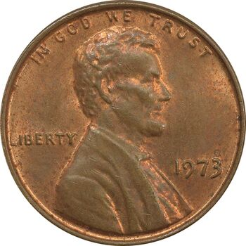 سکه 1 سنت 1973 لینکلن - MS62 - آمریکا