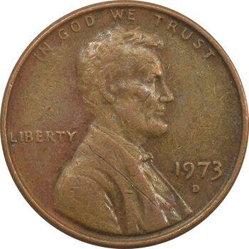 سکه 1 سنت 1973D لینکلن - EF - آمریکا