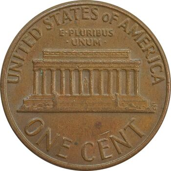 سکه 1 سنت 1975D لینکلن - EF - آمریکا