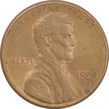 سکه 1 سنت 1992D لینکلن - AU - آمریکا