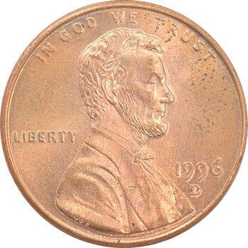 سکه 1 سنت 1996D لینکلن - MS63 - آمریکا
