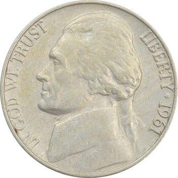 سکه 5 سنت 1961 جفرسون - VF35 - آمریکا