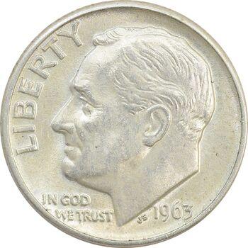 سکه 1 دایم 1963D روزولت - MS62 - آمریکا