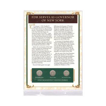 مجموعه سکه 1 دایم 1950 روزولت با تمبر 1945 - آمریکا