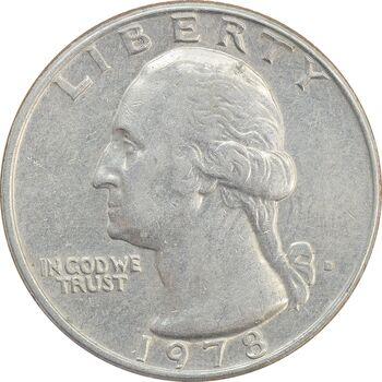 سکه کوارتر دلار 1978D واشنگتن - EF40 - آمریکا