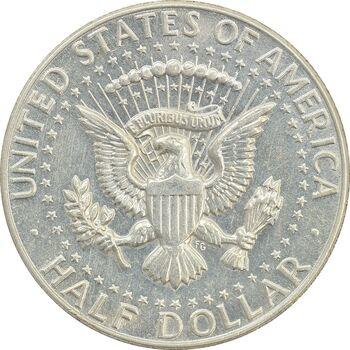 سکه نیم دلار 1966 کندی - AU50 - آمریکا