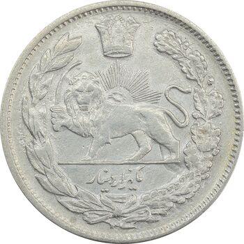 سکه 1000 دینار 1323 تصویری (مکرر روی سکه) - AU50 - مظفرالدین شاه