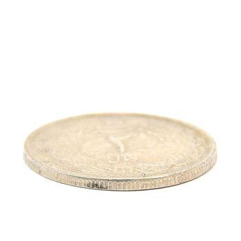 سکه 2 ریال 1325 (سورشارژ 5 روی 5 وارو) - MS62 - محمد رضا شاه