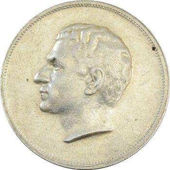 مدال نقره بیست و پنجمین سال سلطنت 1344 - AU58 - محمدرضا شاه