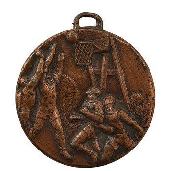 مدال آویز ورزشی برنز بسکتبال آقایان - EF45 - محمد رضا شاه