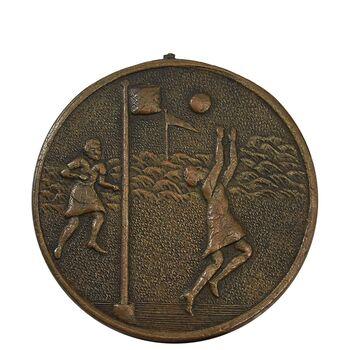 مدال آویز ورزشی برنز بسکتبال دختران 1318 - EF45 - رضا شاه