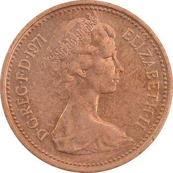 سکه 1 پنی 1971 الیزابت دوم - MS62 - انگلستان