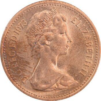 سکه 1 پنی 1973 الیزابت دوم - MS63 - انگلستان