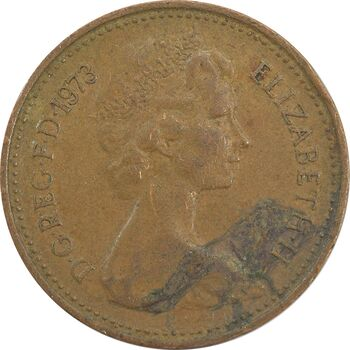 سکه 1 پنی 1973 الیزابت دوم - VF35 - انگلستان