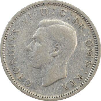سکه 6 پنس 1943 جرج ششم - EF45 - انگلستان