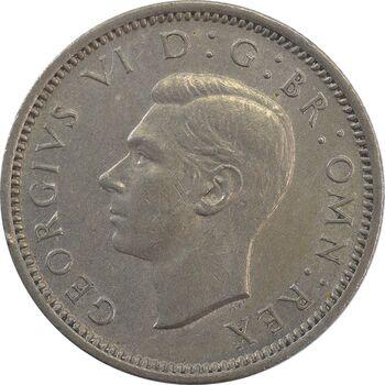 سکه 6 پنس 1949 جرج ششم - AU58 - انگلستان